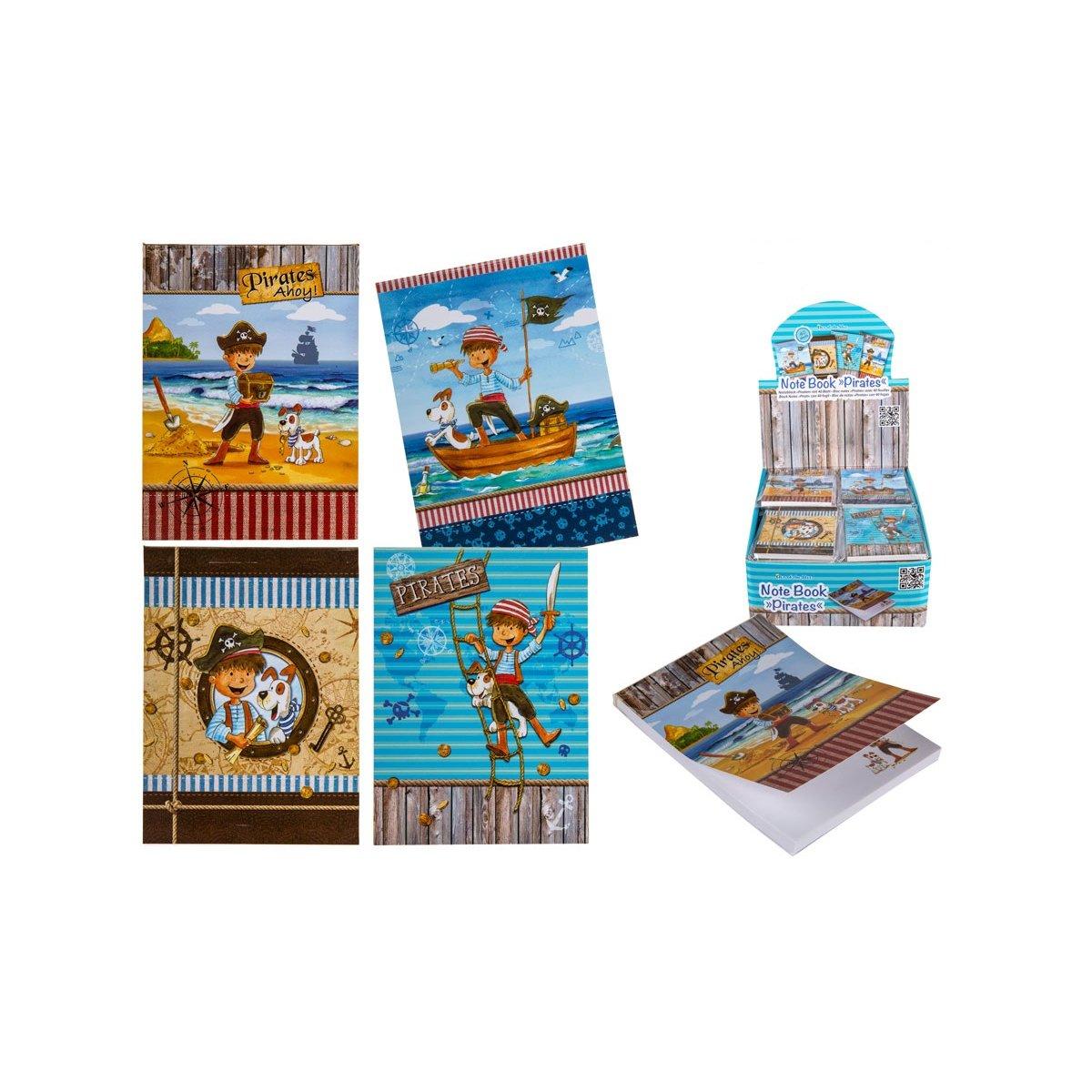 Block mit Piraten Notizblock Piraten 4er Set DIN A7 tolles G Jungen Geschenk