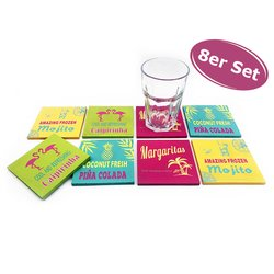 Untersetzer Set Cocktail 8er Set Glasuntersetzer...
