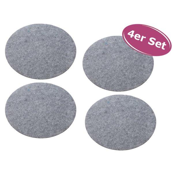 Filz-Platzset hellgrau rund