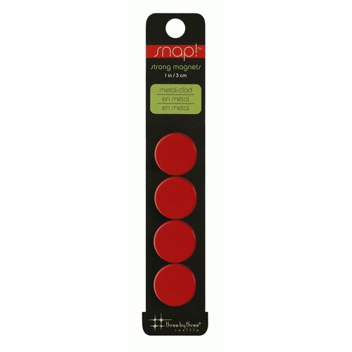 Snap Color Cap - 4er Packung Magnete - rot