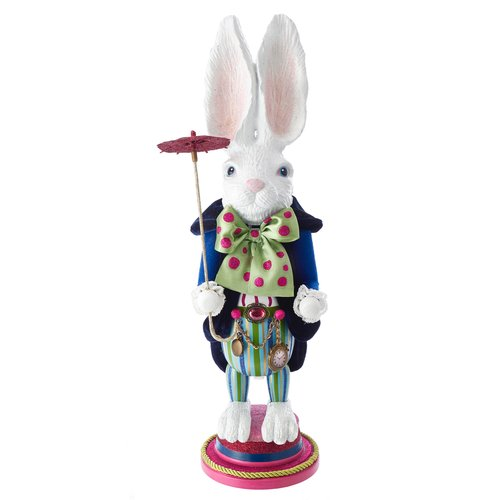 Nussknacker Hase H: 45 cm, Hollywood Nutcrackers white Rabbit, Sammlerstück