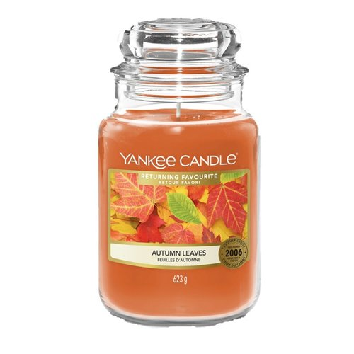 Yankee Candle Duftkerze im Glas (groß) AUTUMN LEAVES - Returning Favourites (Limited Edition)
