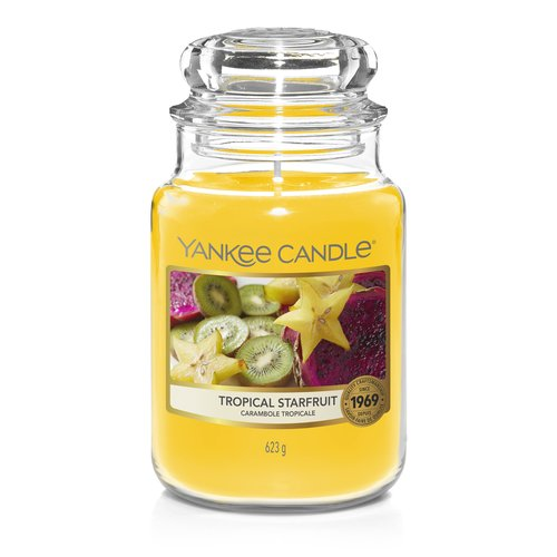 Yankee Candle Duftkerze im Glas (groß) TROPICAL STARFRUIT - The Last Paradise Collection