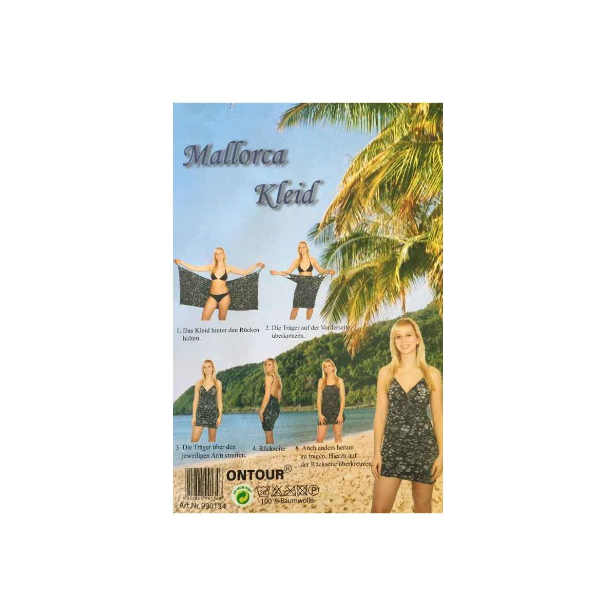 """Universalgröße Strandkleid /""""Sterne/"""" schwarz tolles Sommerkleid aus Baumwolle"""