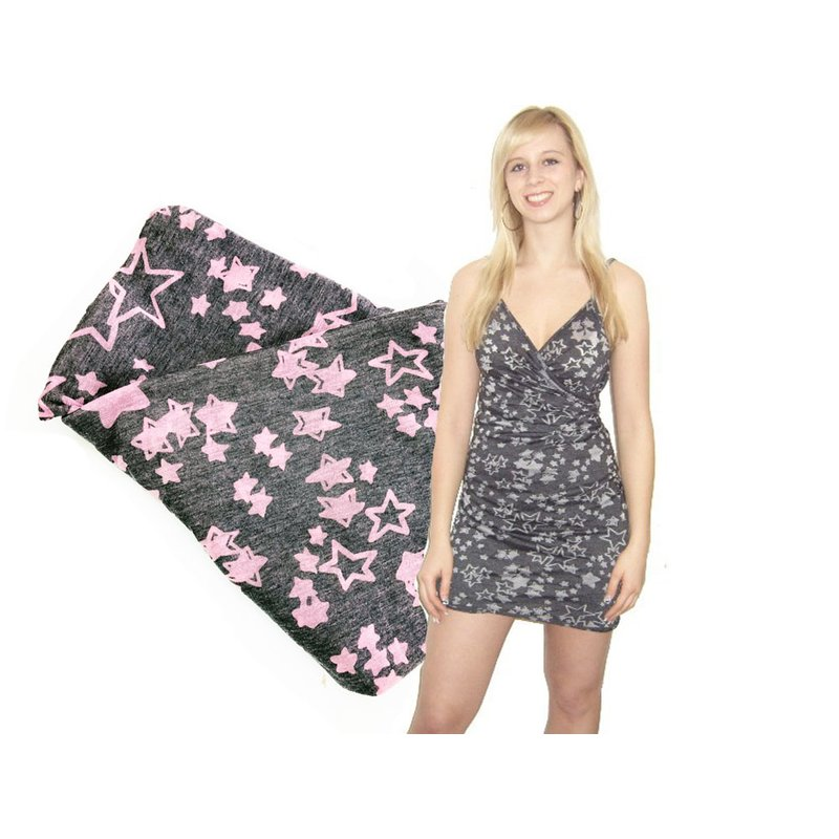 "Strandkleid ""Sterne"" rosa - tolles Sommerkleid aus ..."
